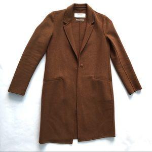 Zara women's wool blend unlined knee length coat
